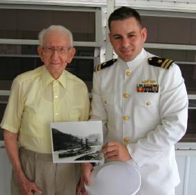 Mr. Ernest Pusey, at age 109 with Mr. Kinsky (R)