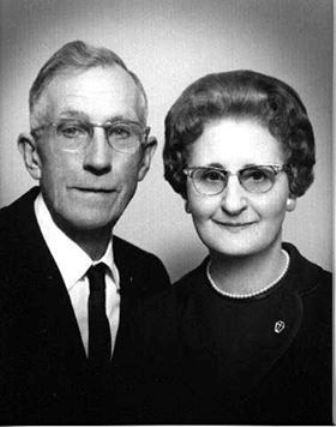 Fern Fentiman, with her husband