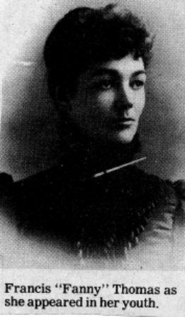 Fannie Thomas, in her youth