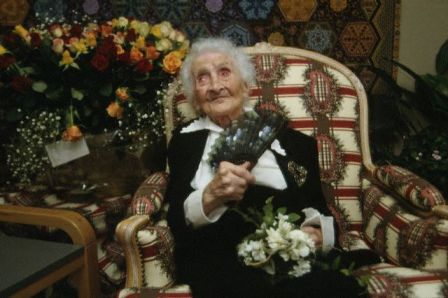 Jeanne Calment on her 120th birthday