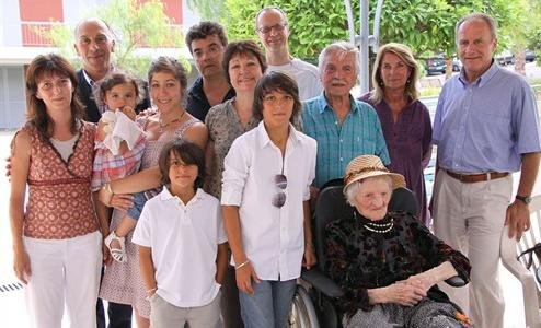 Lucia Damiano, 110, and Family