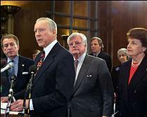 Sen. Orrin Hatch with fellow Senators