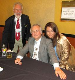 Prof. Richard Dawkins with Stephen and Natalie S. Coles